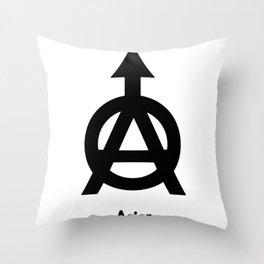 Alchemy Symbol Acier Throw Pillow