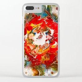 Vintage christmas Clear iPhone Case