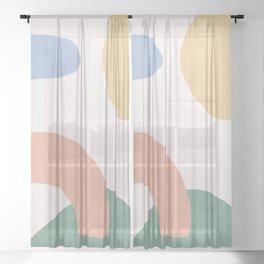 Paint Splotch Landscape Sheer Curtain