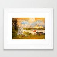 fairy tail Framed Art Prints featuring Fairy Tail  by Tamy Moldavsky Azarov
