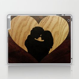 Valentine love heart of wood Laptop & iPad Skin