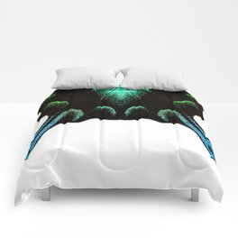 Green Swallowtail Butterfly Comforters