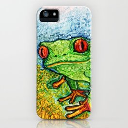 Green Tree Frog By Pam Hayes iPhone Case