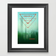 Descend Framed Art Print