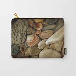 Sea Pebbles With Shells Carry-All Pouch