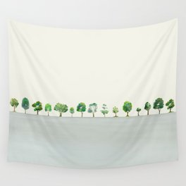 A Row Of Trees Wall Tapestry