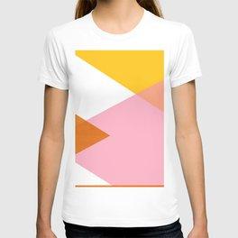 Geometrics - sorbet & orange concrete T-shirt