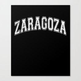 Zaragoza City in Spain Canvas Print