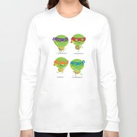 turtles Long Sleeve T-shirts featuring Turtles by Maria Jose Da Luz