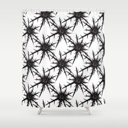 Dry Thistle With Sharp Thorns Botanical Art Shower Curtain