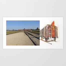 Death Train: Real vs. Drawing Art Print