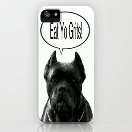 Riggo Monti Design #18 - Eat Yo Grits! iPhone Case
