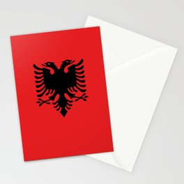 National flag of Albania - Authentic version Stationery Cards