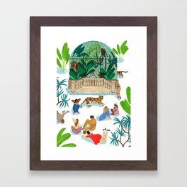 Le Dome Framed Art Print