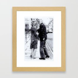 James (Jimmy) and Gloria Stewart Framed Art Print