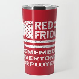 Red Friday American Flag RED Travel Mug