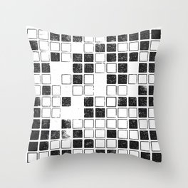 Square Grid Throw Pillow