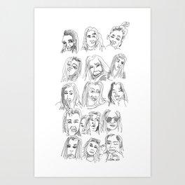 12 Portraits Art Print