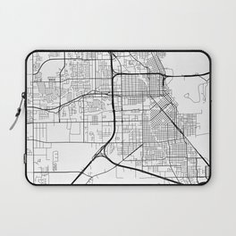 Beaumont Map, USA - Black and White Laptop Sleeve