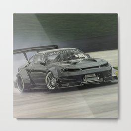 Drifting Car II Metal Print