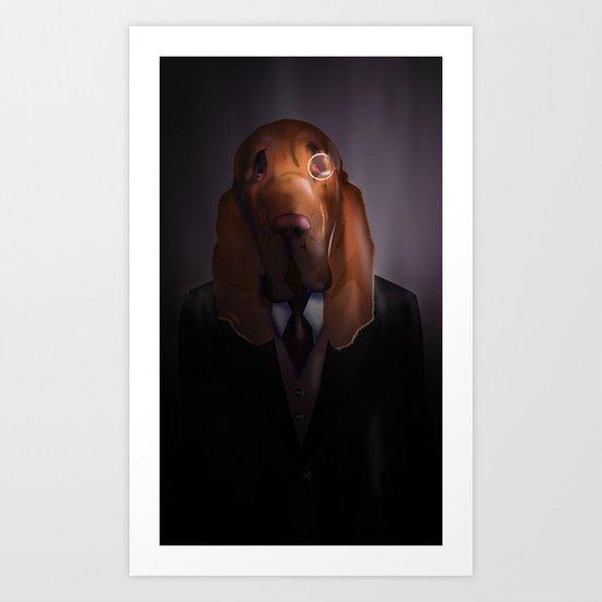 Good-Night, Sir Hound Art Print