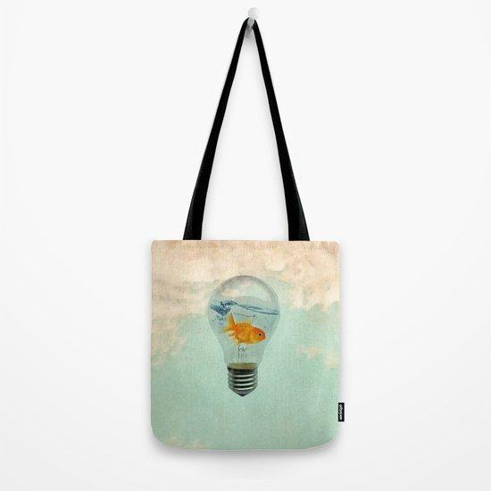 goldfish thinking Tote Bag