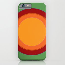 70s Retro Chic sunspot in Soothing Green iPhone Case