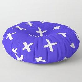 blue white cross Floor Pillow