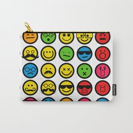 Emotional Emoticon Set Carry-All Pouch