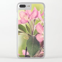 Pink Spring Modern Cottage Chic Flowers Art A460 Clear iPhone Case