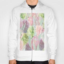 Protea and artichokes Hoody