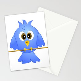 Blue bird on the rope Stationery Cards