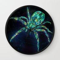 spider Wall Clocks featuring Spider by shadow chen