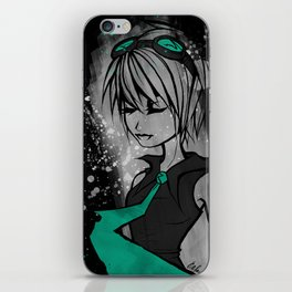 Miss Mental in Turquoise iPhone Skin