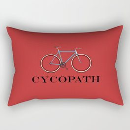 Cycopath red Rectangular Pillow