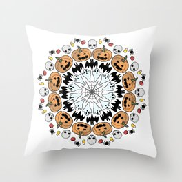 SPOOKY MANDALA Throw Pillow