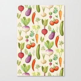 Garden Veggies Light Canvas Print