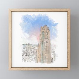 Cathedral of Learning Framed Mini Art Print