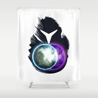 metroid Shower Curtains featuring Metroid Prime 2: Echoes by Ian Wilding