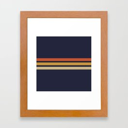 Vintage Retro Stripes Framed Art Print