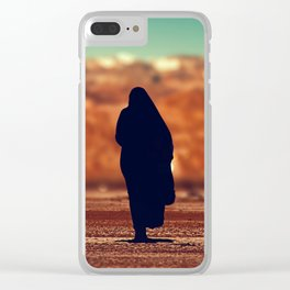 Moroccan lady silhouette #society6 #decor #buyart Clear iPhone Case