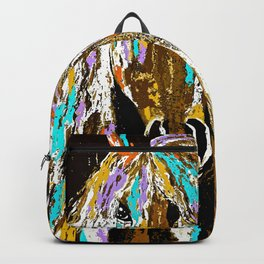 Horse Abstract Oil Painting Backpack