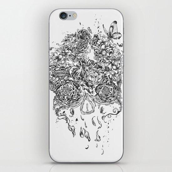 Skull Flower iPhone & iPod Skin