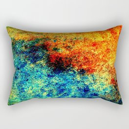 Abstract painting orange blue Rectangular Pillow