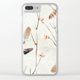 Feather Tree Clear iPhone Case