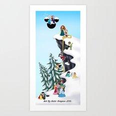 Welcome Anna and Elsa  Art Print