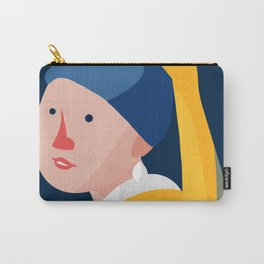 Cute With Pearl Earring Carry-All Pouch