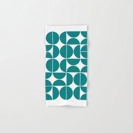 Mid Century Modern Geometric 04 Teal Hand & Bath Towel