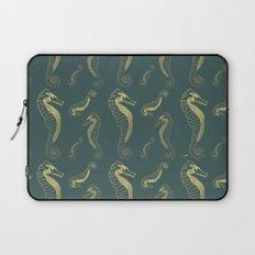 Happy Hippocampus Teal Laptop Sleeve