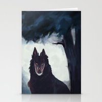 the hound Stationery Cards featuring Hound by Aim Ren